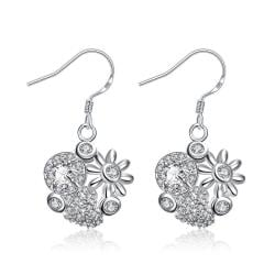 Vienna Jewelry Petite Crystal Stone Blossoming Floral Drop Earrings - Thumbnail 0