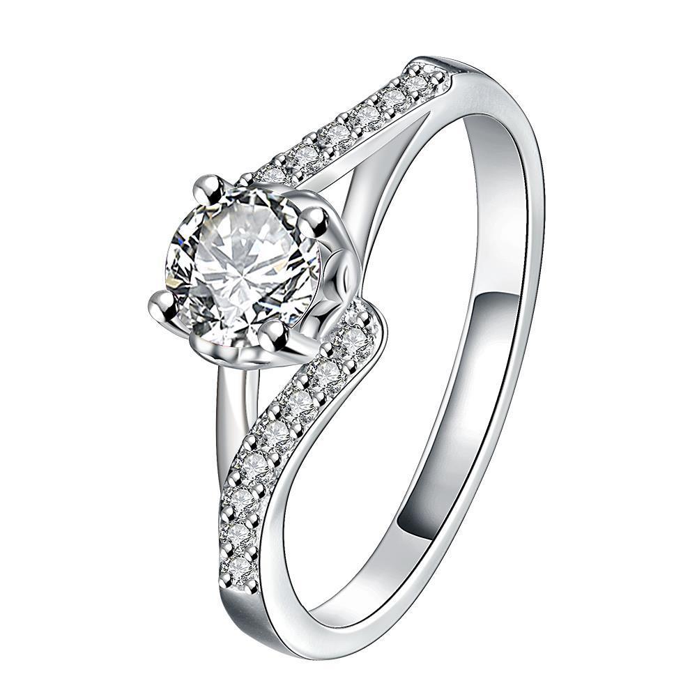 Vienna Jewelry Crystal Stone Swirl Design Petite Ring Size 8