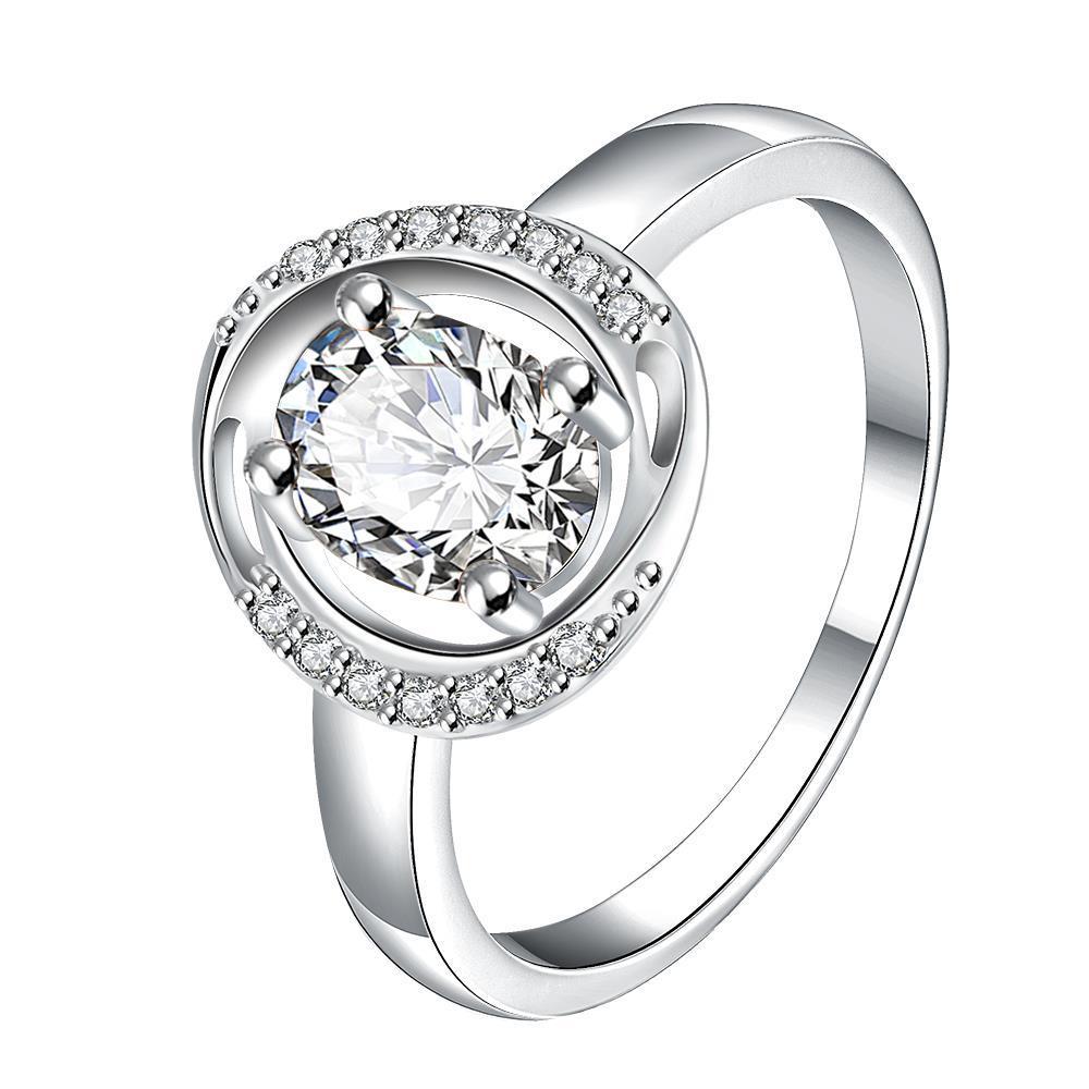 Crystal Circular Jewels Lining Ring Size 8
