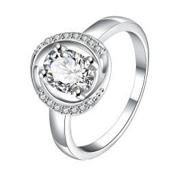 Crystal Circular Jewels Lining Ring Size 8 - Thumbnail 0
