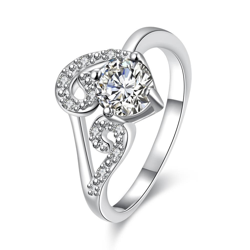 Classic Crystal Duo-Spiral Design Petite Ring Size 7