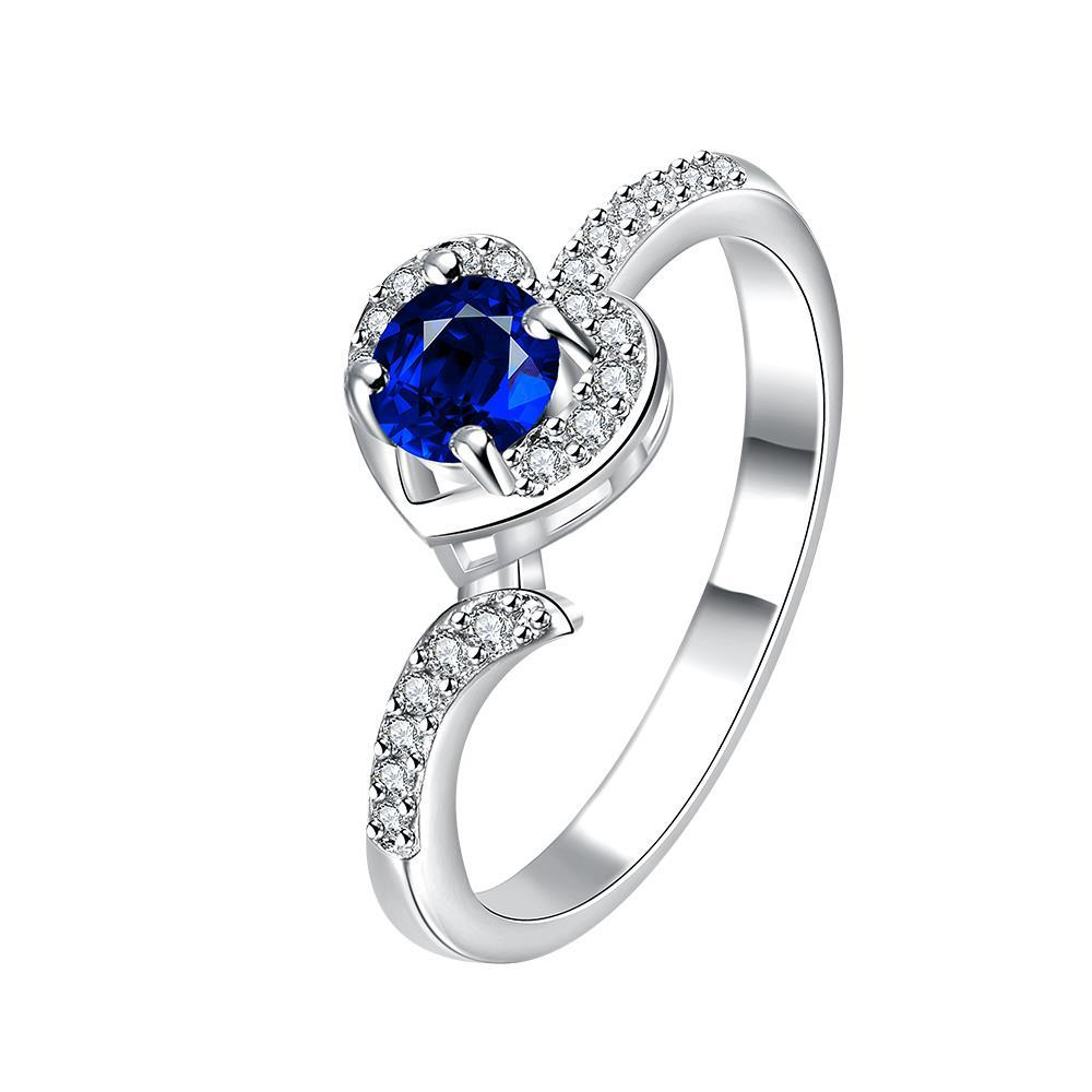Vienna Jewelry Petite Mock Sapphire Swirl Jewels Modern Ring Size 7