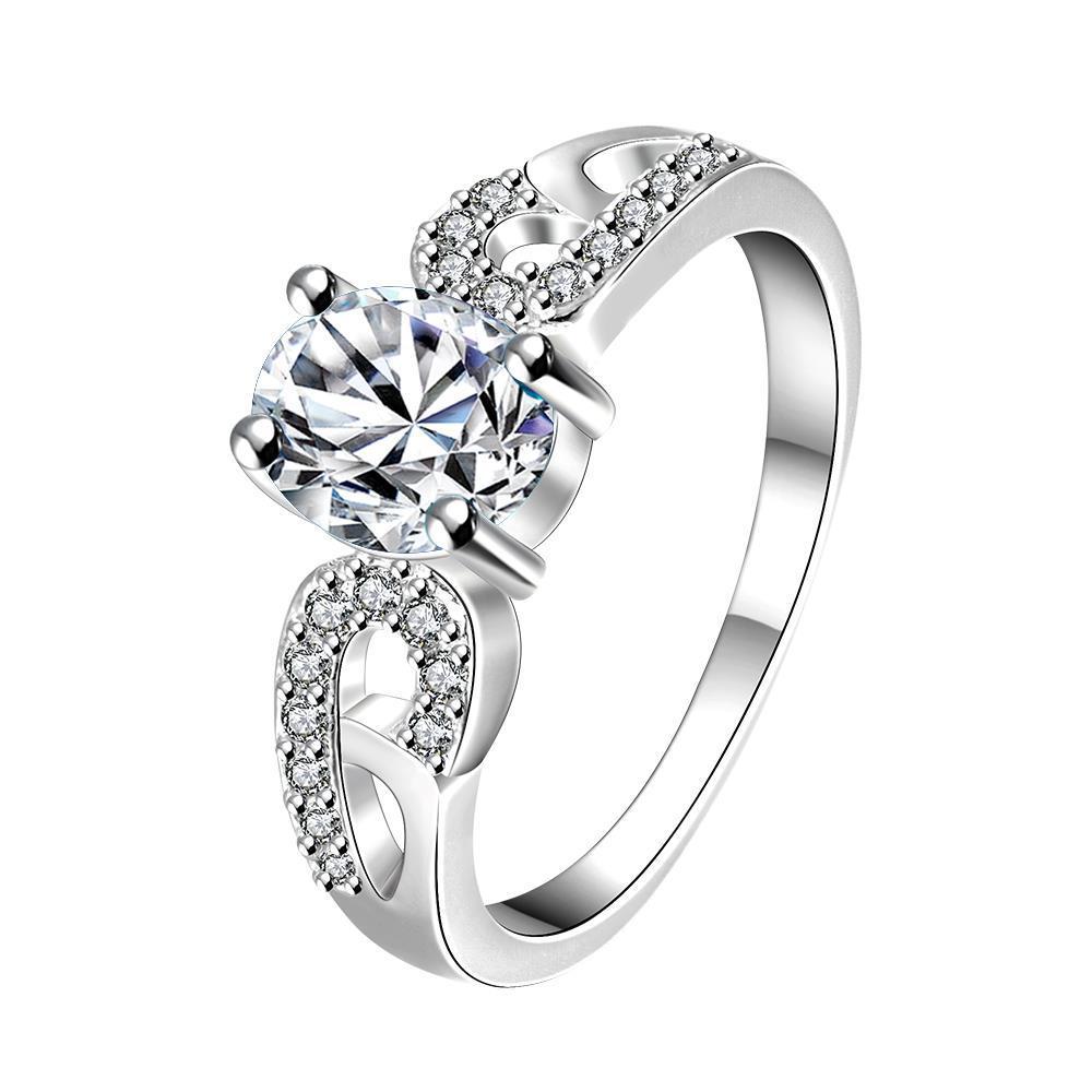 Vienna Jewelry Petite Classic Crystal Laser Cut Petite Ring Size 8
