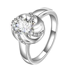 Vienna Jewelry Classic Crystal Spiral Laser Cut Petite Ring Size 7 - Thumbnail 0