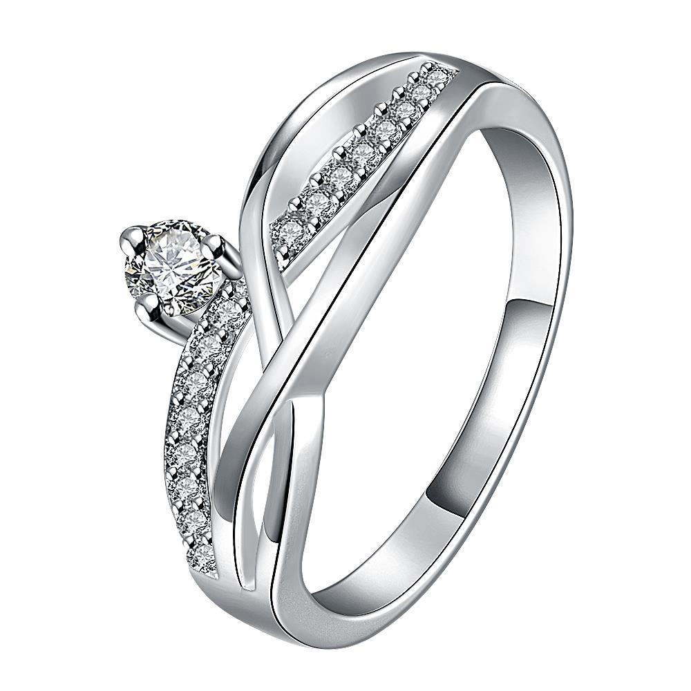 Vienna Jewelry Petite Crystal Stone Gem Spiral Petite Ring Size 8