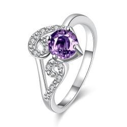 Purple Citrine Duo-Spiral Design Petite Ring Size 8 - Thumbnail 0