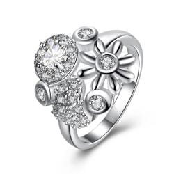 Classic Crystal Multi-Charms Inserted Petite Ring Size 8 - Thumbnail 0