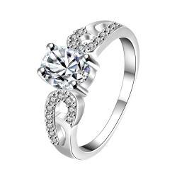 Petite Classic Crystal Laser Cut Petite Ring Size 7 - Thumbnail 0