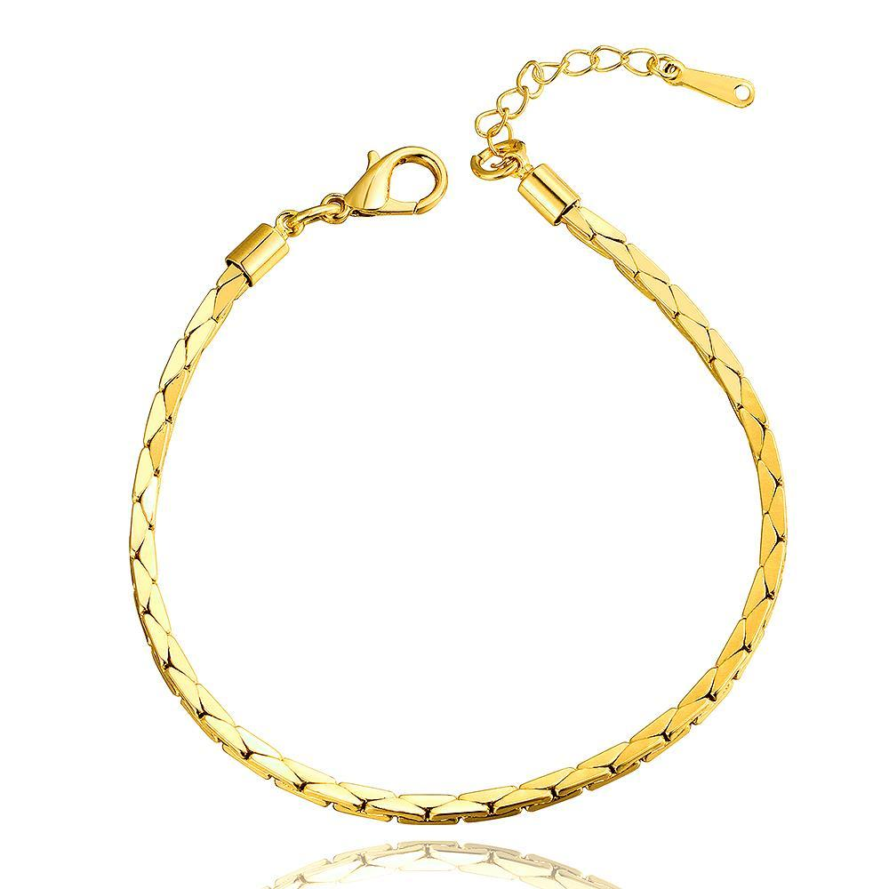 Vienna Jewelry 18K Gold Thin Line Bracelet with Austrian Crystal Elements