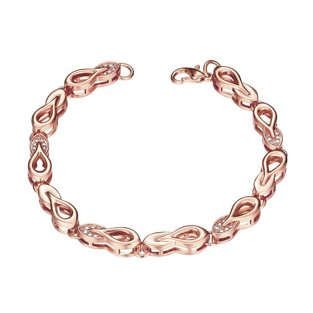 Vienna Jewelry Rose Gold Plated Sisters Make the Best Friends Bracelet