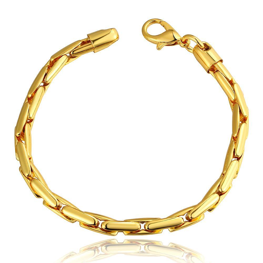 Vienna Jewelry 18K Gold Greek Bracelet with Austrian Crystal Elements - Thumbnail 0