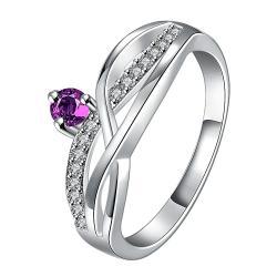 Petite Purple Citrine Gem Spiral Petite Ring Size 8 - Thumbnail 0