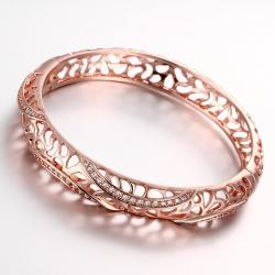 Vienna Jewelry Rose Gold Plated Raise The Bar Bangle - Thumbnail 0