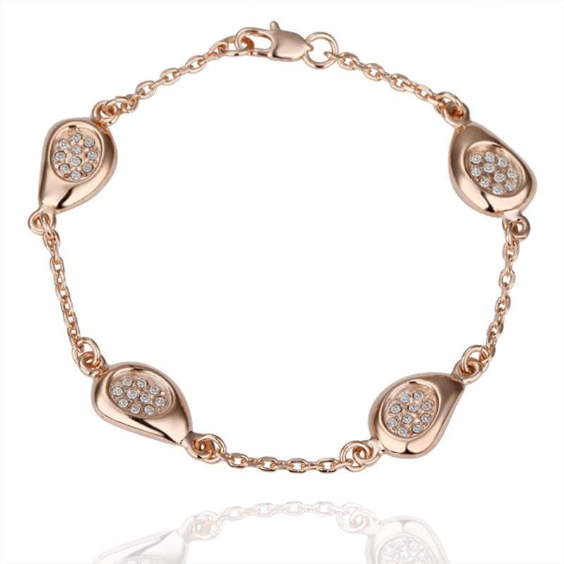 Vienna Jewelry 18K Gold Circular Emblem Bracelet with Austrian Crystal Elements