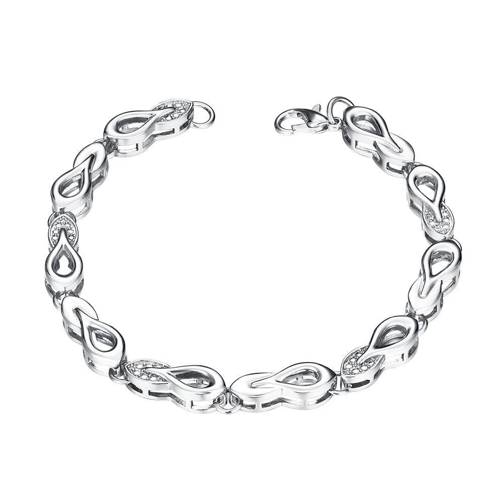 Vienna Jewelry White Gold Plated Sisters Make the Best Friends Bracelet
