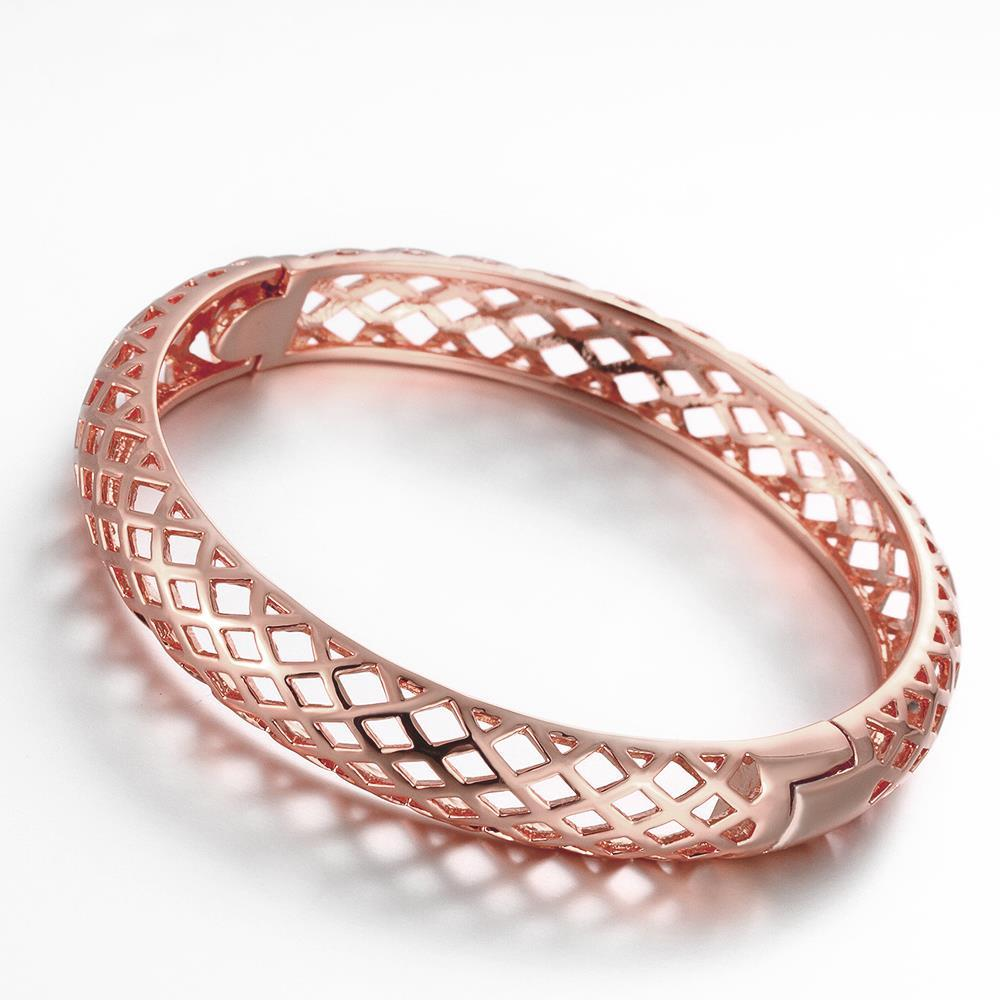 Vienna Jewelry Rose Gold Plated Eyes on Me Bangle