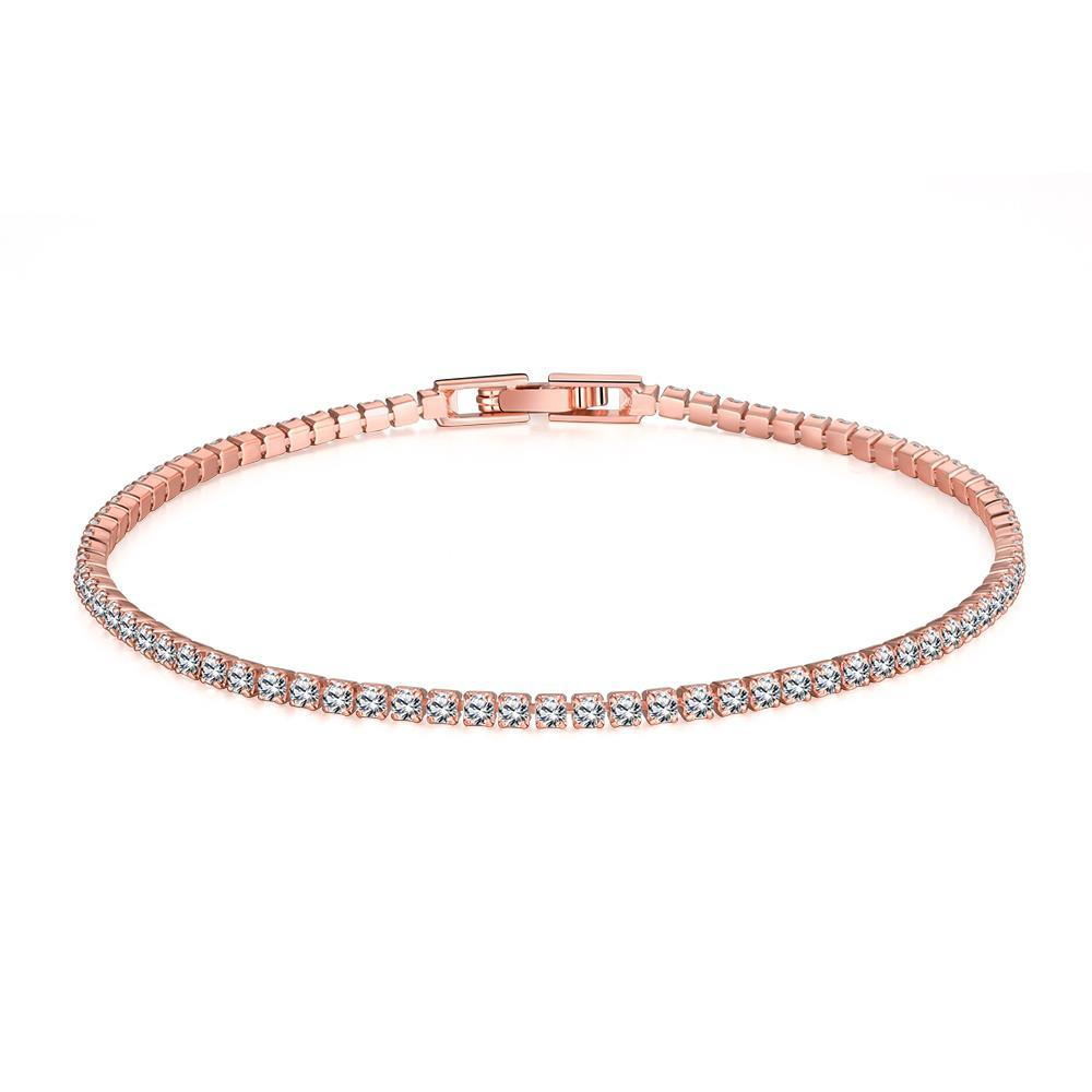 Vienna Jewelry Tennis Style 18K Gold Plated Bracelet