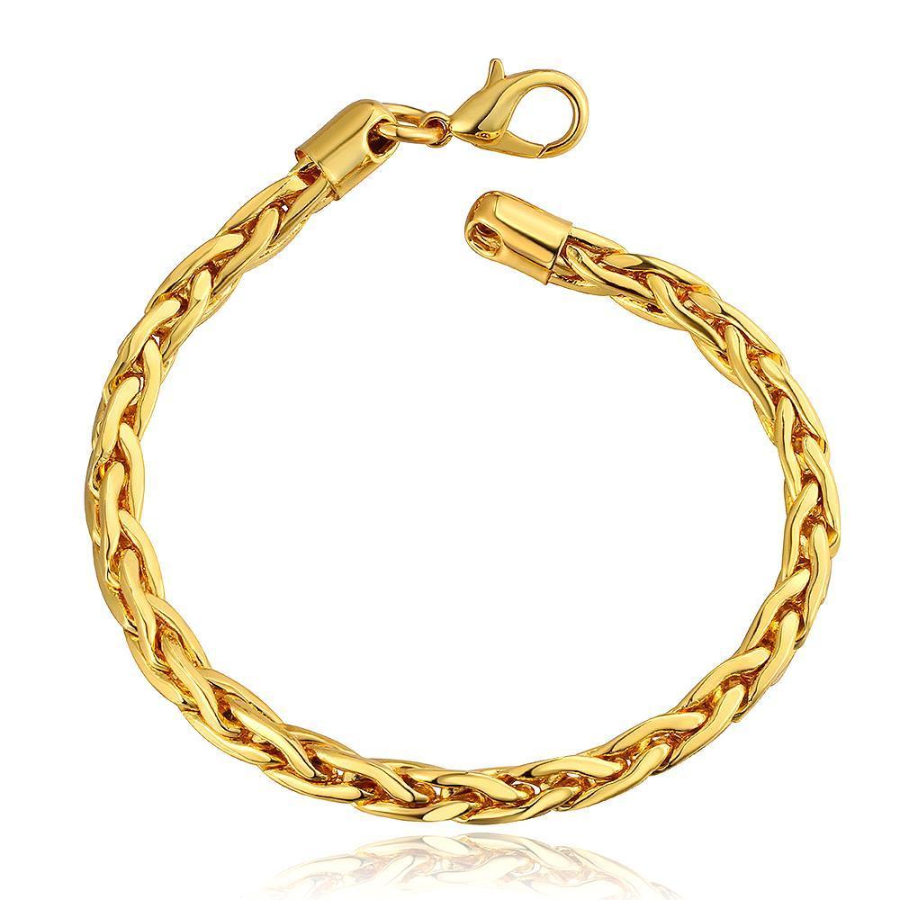 Vienna Jewelry 18K Gold Grape Vine Bracelet with Austrian Crystal Elements