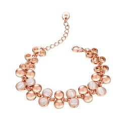Vienna Jewelry 18K Rose Gold Natural Gemstone Emblems Bracelet with Austrian Crystal Elements - Thumbnail 0