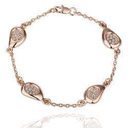 Vienna Jewelry 18K Gold Circular Emblem Bracelet with Austrian Crystal Elements - Thumbnail 0