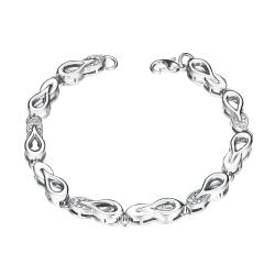Vienna Jewelry White Gold Plated Sisters Make the Best Friends Bracelet - Thumbnail 0