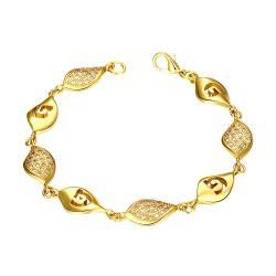 Vienna Jewelry Gold Plated European Intertwined Matrix Bracelet - Thumbnail 0