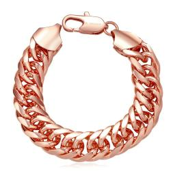 Vienna Jewelry 18K Rose Gold Full Chained Bracelet with Austrian Crystal Elements - Thumbnail 0