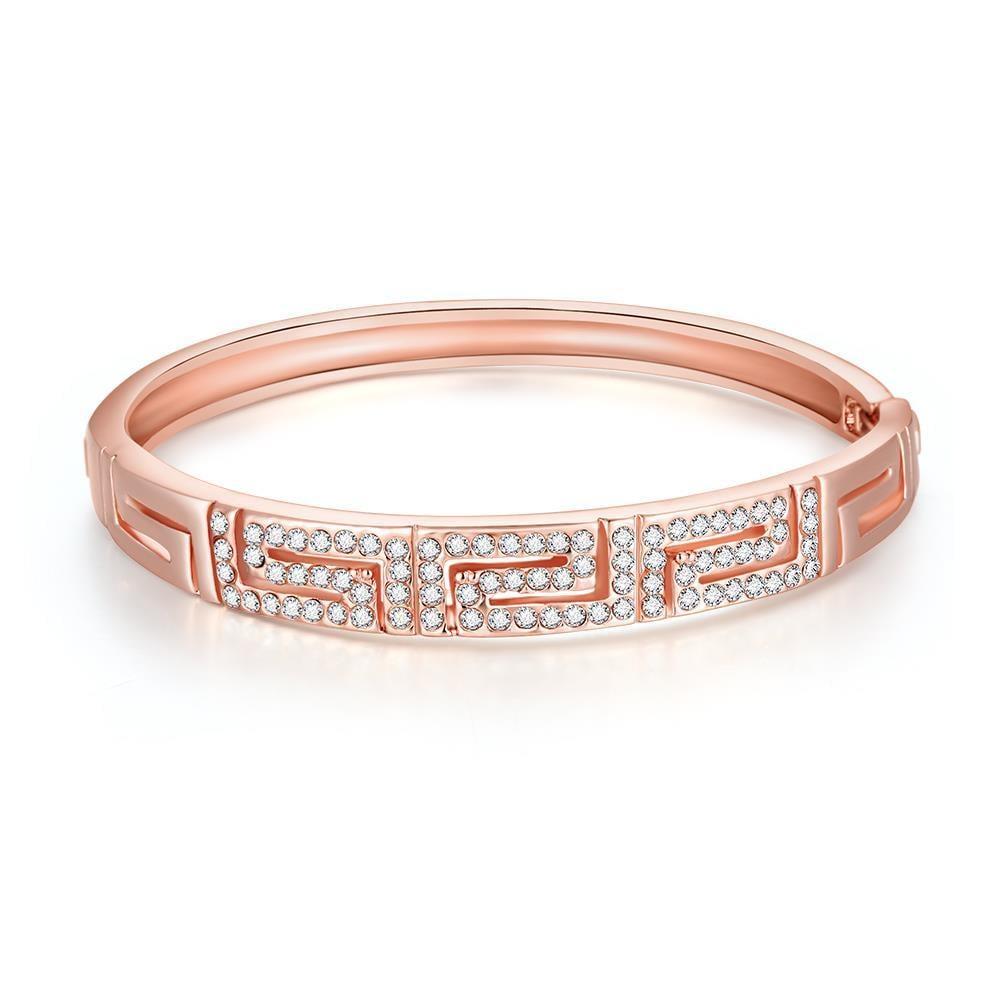 Vienna Jewelry 18K Rose Gold Maze Bracelet