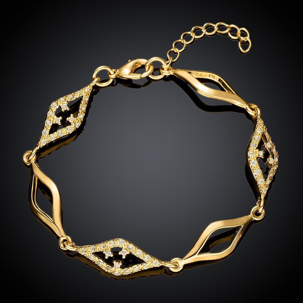 Vienna Jewelry Gold Plated Diamond Cut Bracelet