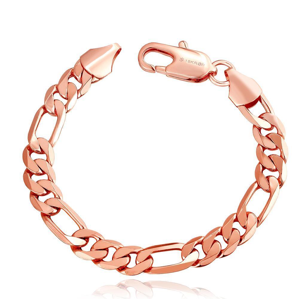 Vienna Jewelry 18K Rose Gold Classic Roman Bracelet with Austrian Crystal Elements