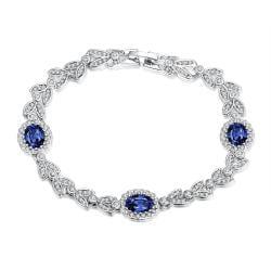 Vienna Jewelry Sapphire Gem 18K White Gold Plated - Thumbnail 0