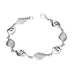 Vienna Jewelry White Gold Plated European Intertwined Matrix Bracelet - Thumbnail 0