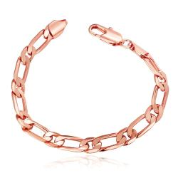 Vienna Jewelry 18K Rose Gold Thin Classic Bracelet with Austrian Crystal Elements - Thumbnail 0