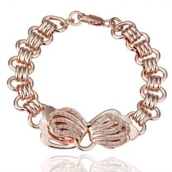 Vienna Jewelry Gold Jewels Covered Bow-Tie Bracelet with Austrian Crystal Elements - Thumbnail 0