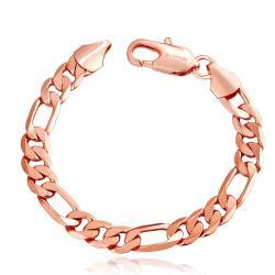 Vienna Jewelry 18K Rose Gold Classic Roman Bracelet with Austrian Crystal Elements - Thumbnail 0