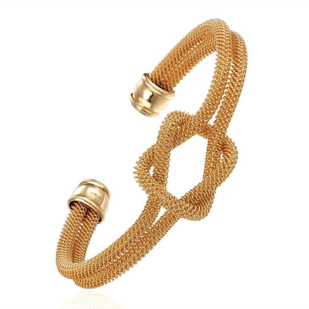 Vienna Jewelry Gold Plated Loveknot Bangle