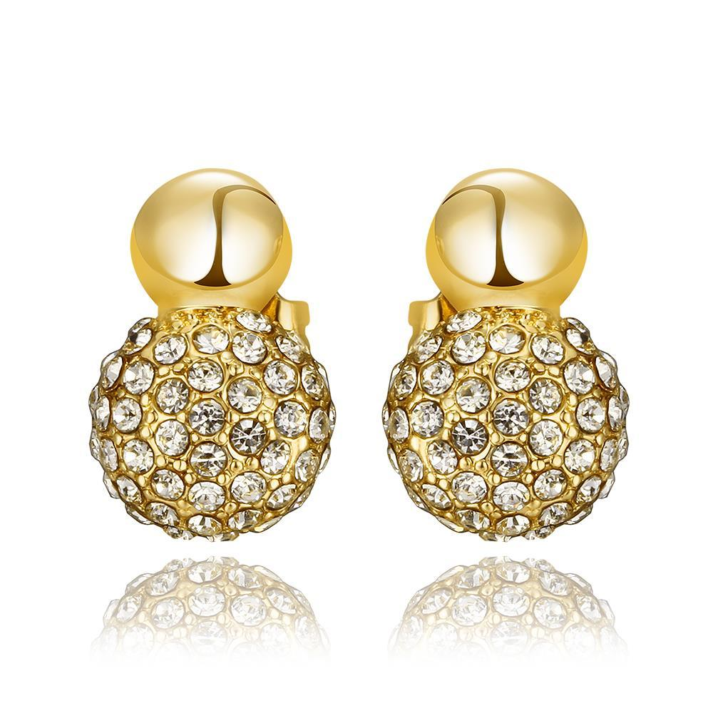Vienna Jewelry 18K Gold Sau've Crystal Stud Earrings Made with Swarovksi Elements