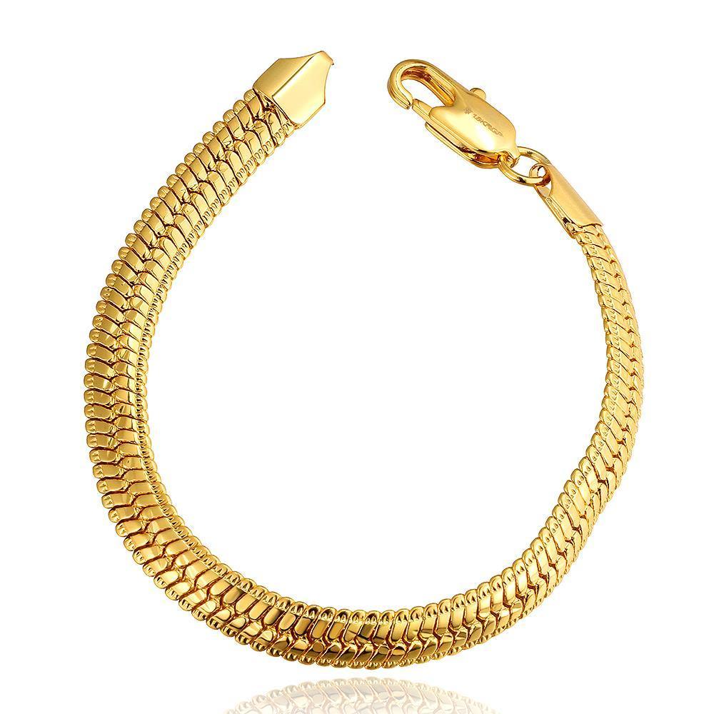 Vienna Jewelry 18K Gold Classic New York Bracelet with Austrian Crystal Elements