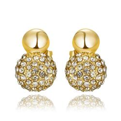 Vienna Jewelry 18K Gold Sau've Crystal Stud Earrings Made with Swarovksi Elements - Thumbnail 0