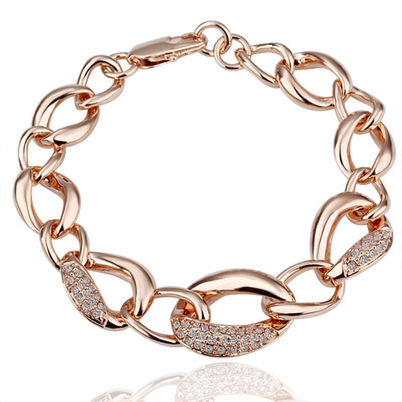 Vienna Jewelry 18K Gold Crystal Jewels Covered Bracelet with Austrian Crystal Elements