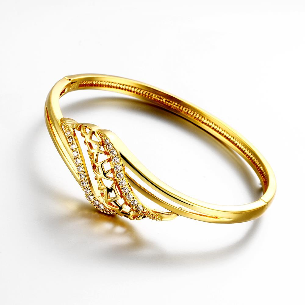 Vienna Jewelry Gold Plated Natural Tree Branch Bangle