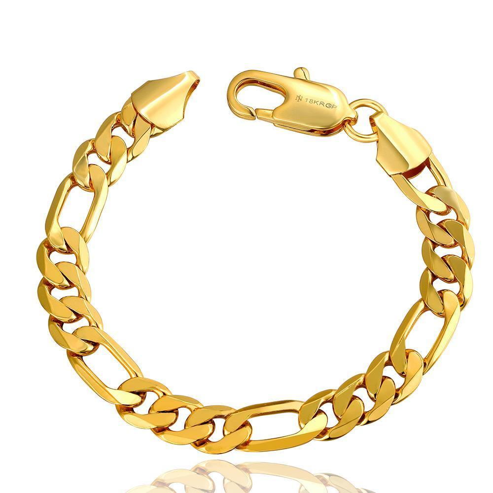 Vienna Jewelry 18K Gold Classic Roman Bracelet with Austrian Crystal Elements