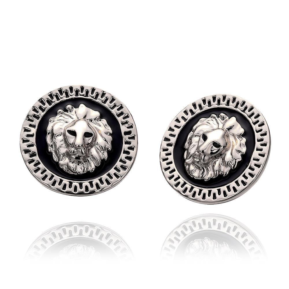 Vienna Jewelry 18K White Gold Petite Stud Earrings Made with Swarovksi Elements