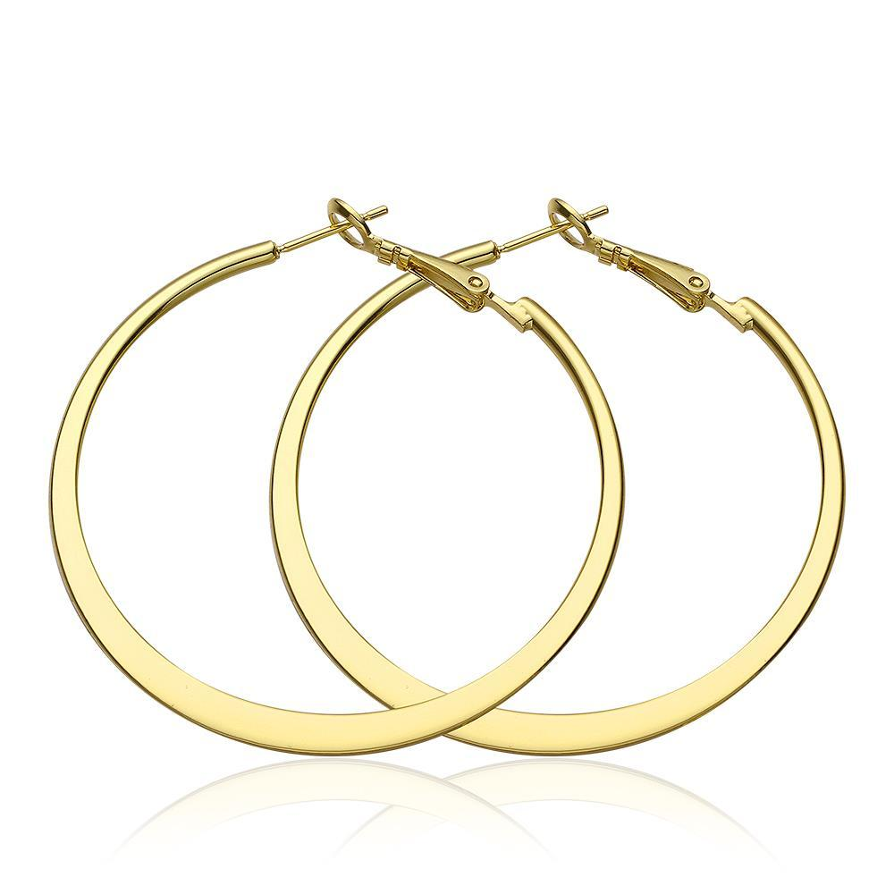 Vienna Jewelry 18K Gold Classic New York Hoop Earrings Made with Swarovksi Elements