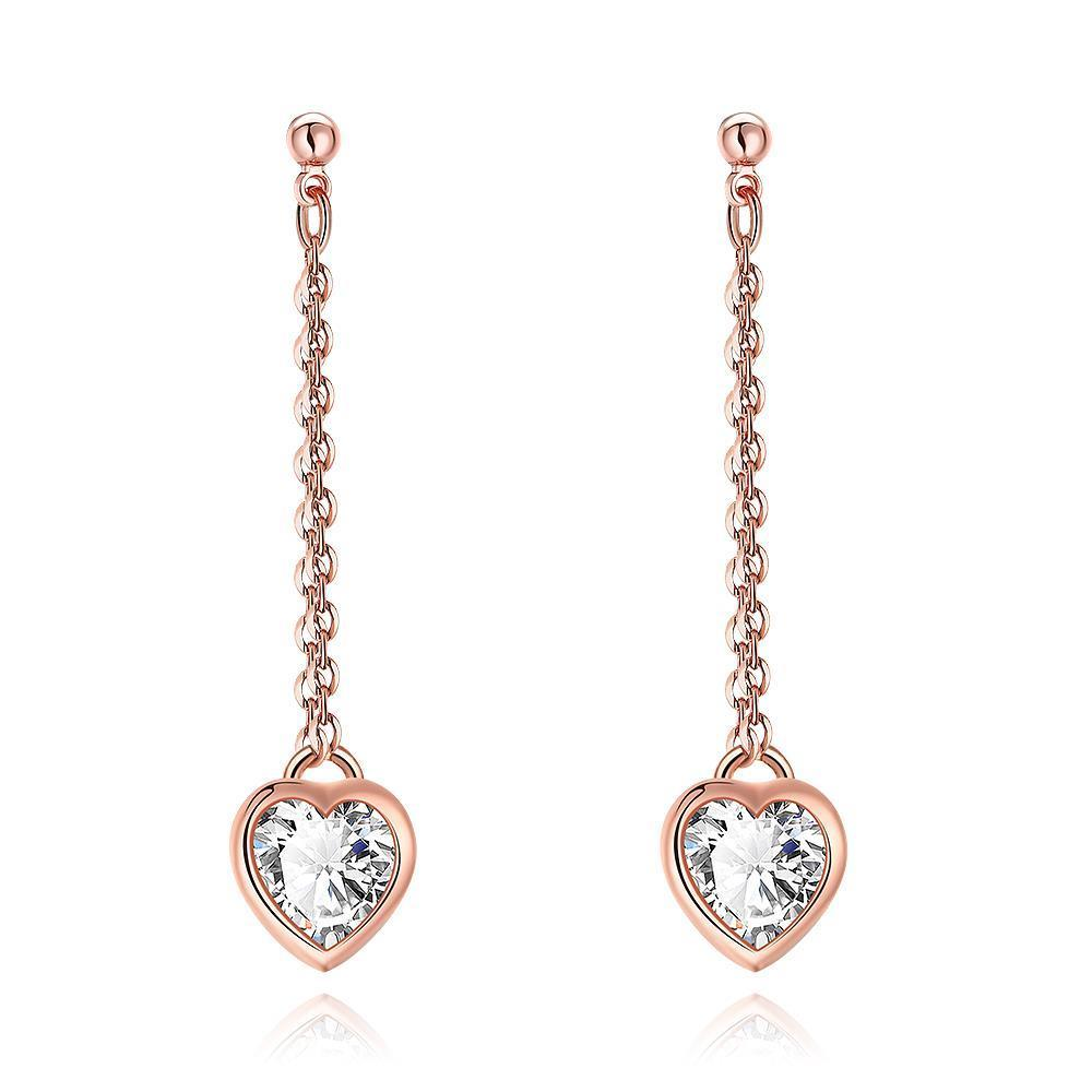 Vienna Jewelry Heart Drop White Topaz Stud Earrings