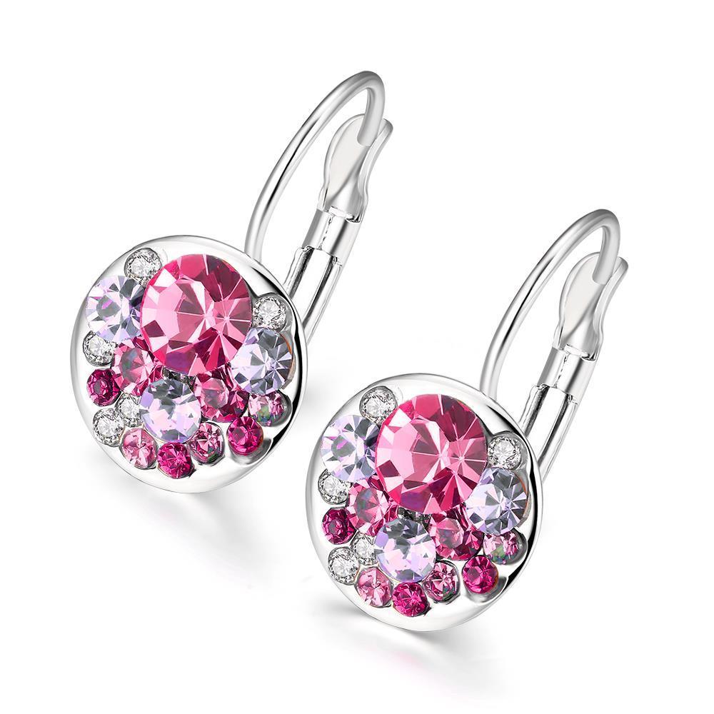 Vienna Jewelry 18K Italian Periwinkle Drop Earring