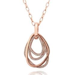 Vienna Jewelry Rose Gold Plated Overblossoming Petite Emblem Necklace - Thumbnail 0