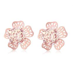 Vienna Jewelry Gold Plated Floral Galore Studded Earrings - Thumbnail 0