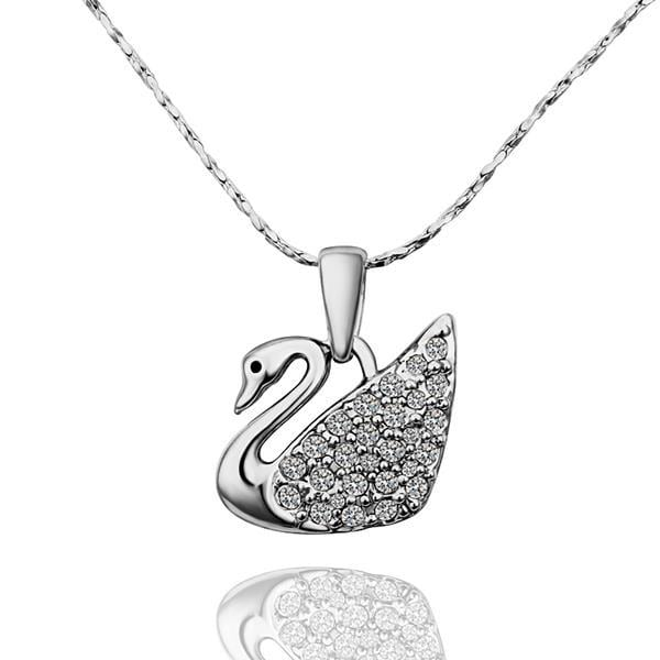Vienna Jewelry White Gold Plated Peaceful Dove Necklace