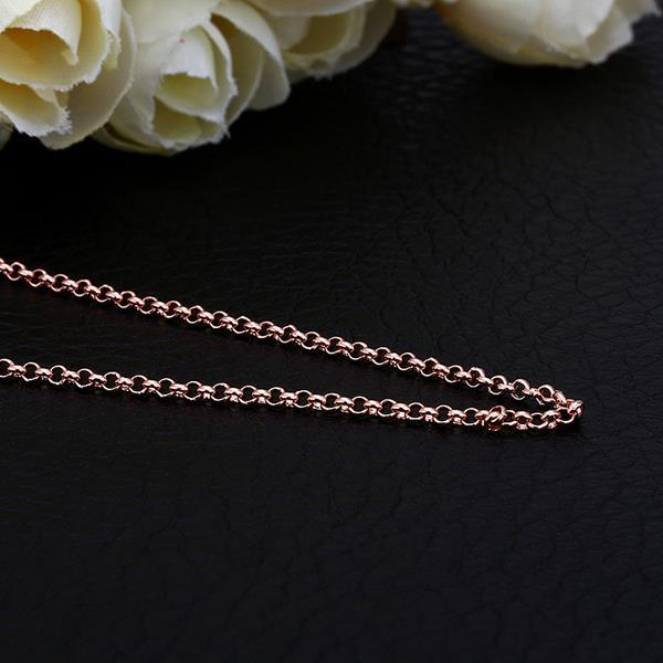 Vienna Jewelry Rose Gold Plated Petite London Inspired Chain Necklace